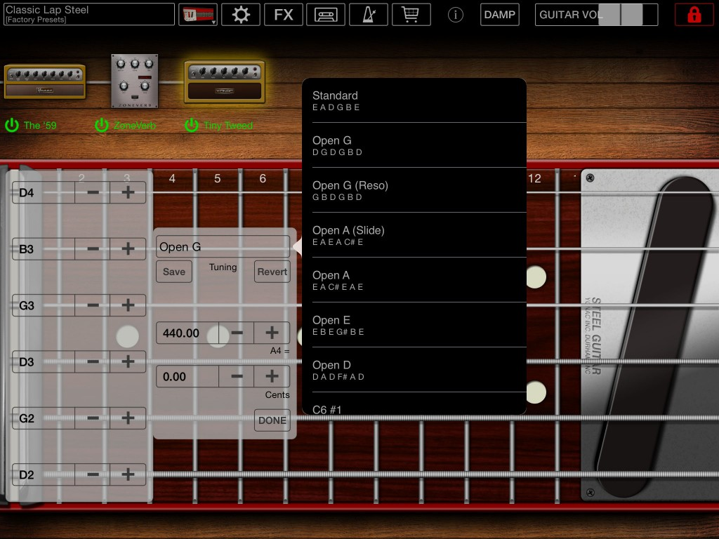 Yon can adjust the tuning of the guitar to suit your own preferences.