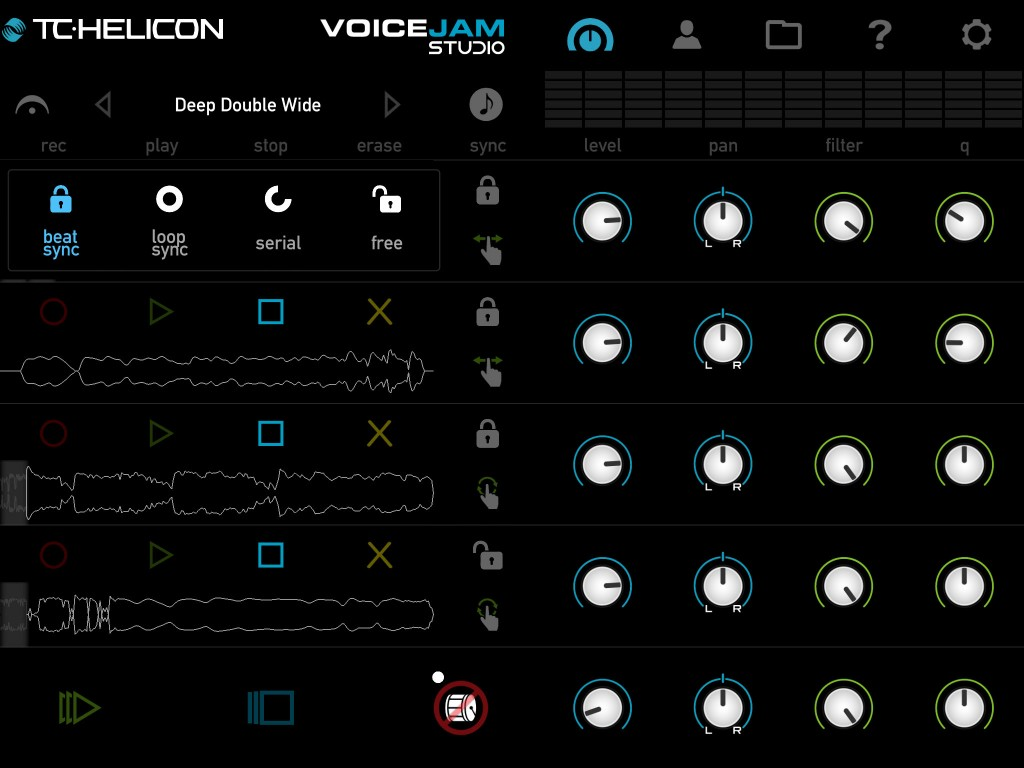 Voice Jam Studio now features four different sync modes for your loops.