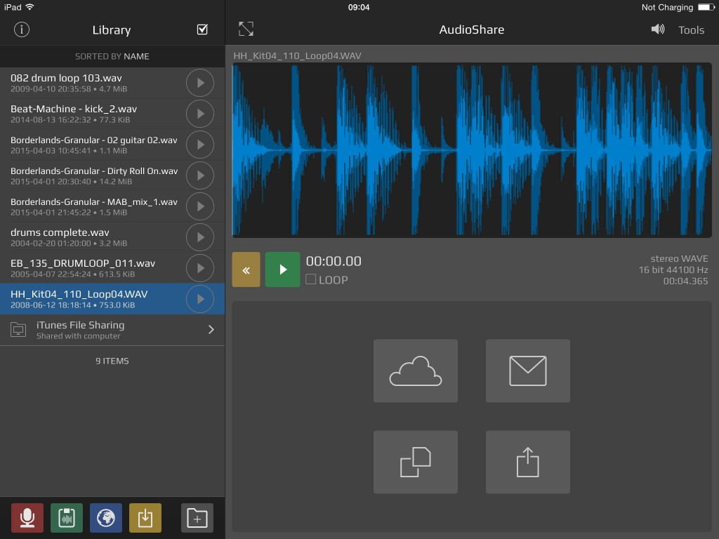 AudioShare - the kind of audio utility app that is well worth a place in almost any iOS musician's app collection.