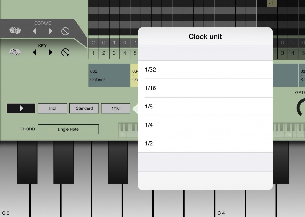 You can also adjust the relationship between the step grid and the tempo.