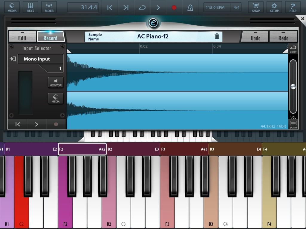 You get some basic sample-editing tools and the option to map samples across a particular range of keys.