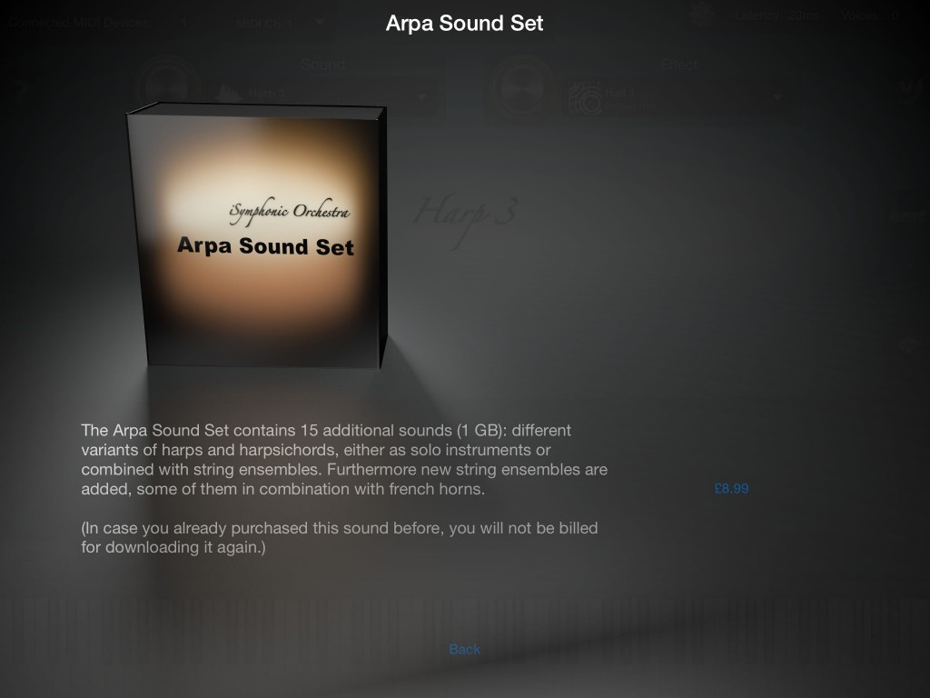 The new Arpa Sound Set adds 15 new sounds.