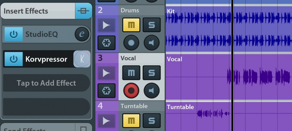 Used to process individual audio sources such as vocals (as here), guitars or drums, Korvpressor can add some nice punch.