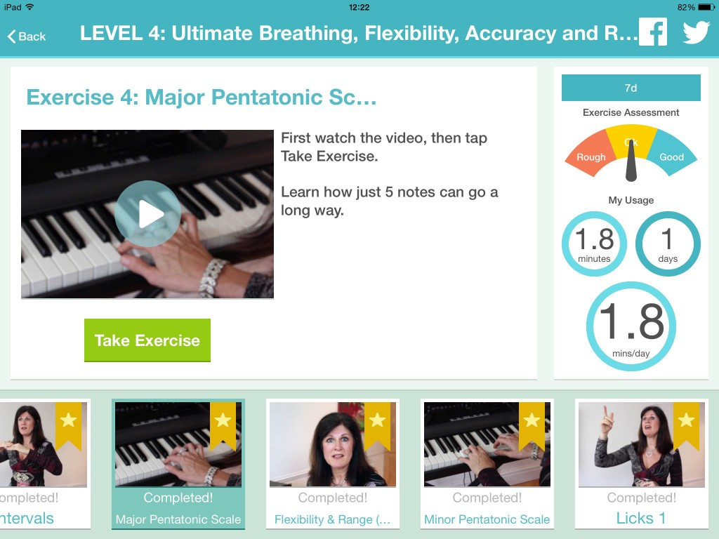 Perhaps this kind of app - in this case, a voice training app - is where I should be spending more time if I really want to reach my personal musical goals?