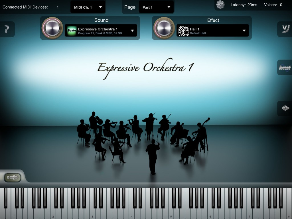 iSymphonic Orchestra is now an impressive app.... but key switching would be a great addition.