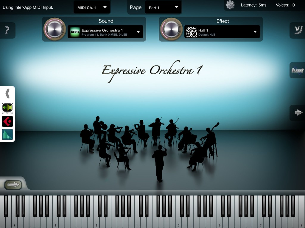 iSymphonic Orchestra - sounds great and now has a good selection of additional sounds available via various IAPs.