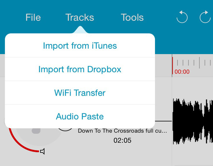 You can import your master audio file from a number of different sources.