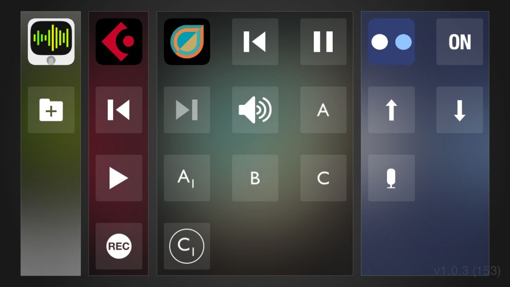 The app also includes Remote Triggers for Audiobus remote that allow pattern switching.