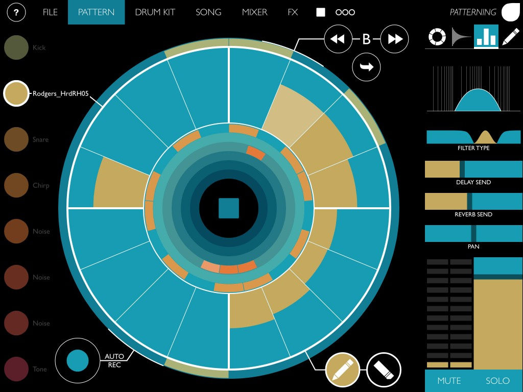Patterning; going where no iOS drum machine app has gone before?