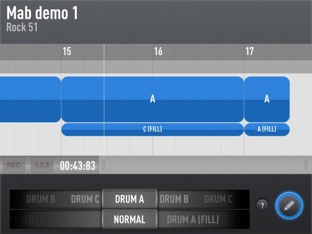 The timeline based editing is very easy to use and includes some neat options for adding variations into your arrangements.