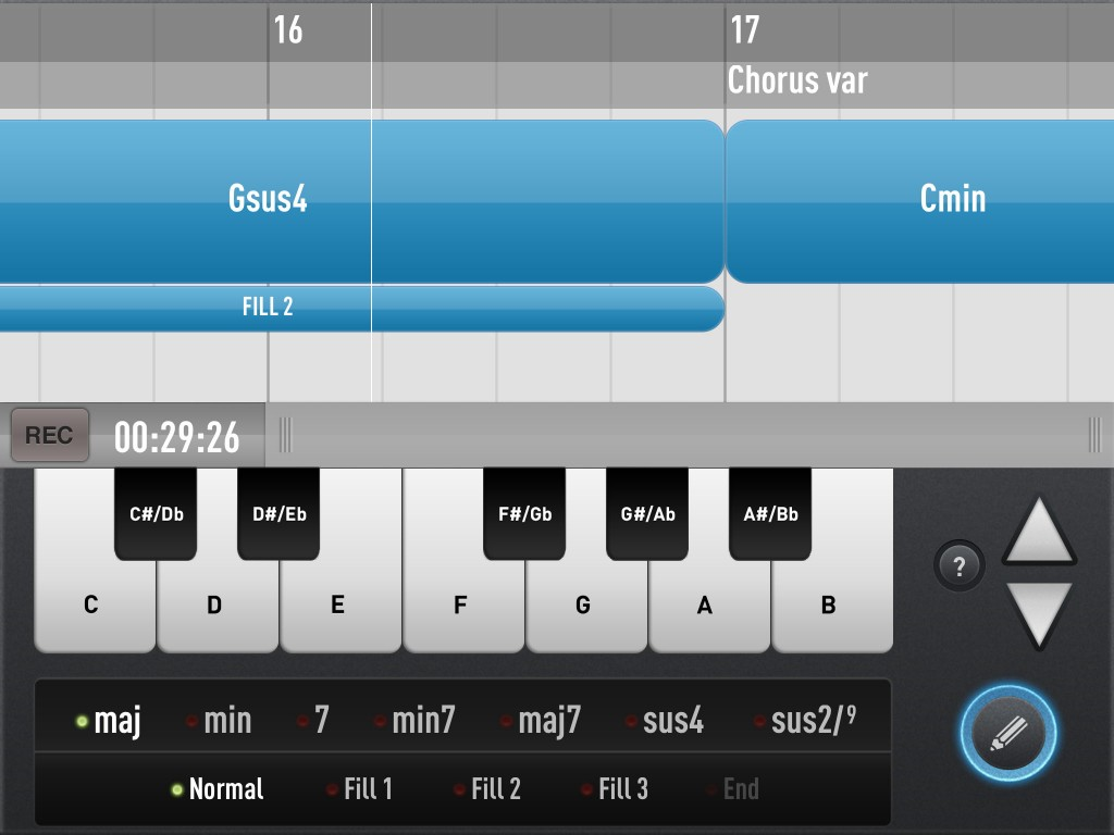 The SessionBand apps; genre-based accompaniment based upon your own chord progressions.