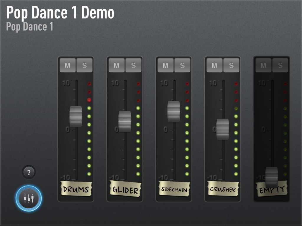 The SessionBand apps also include mixing options....