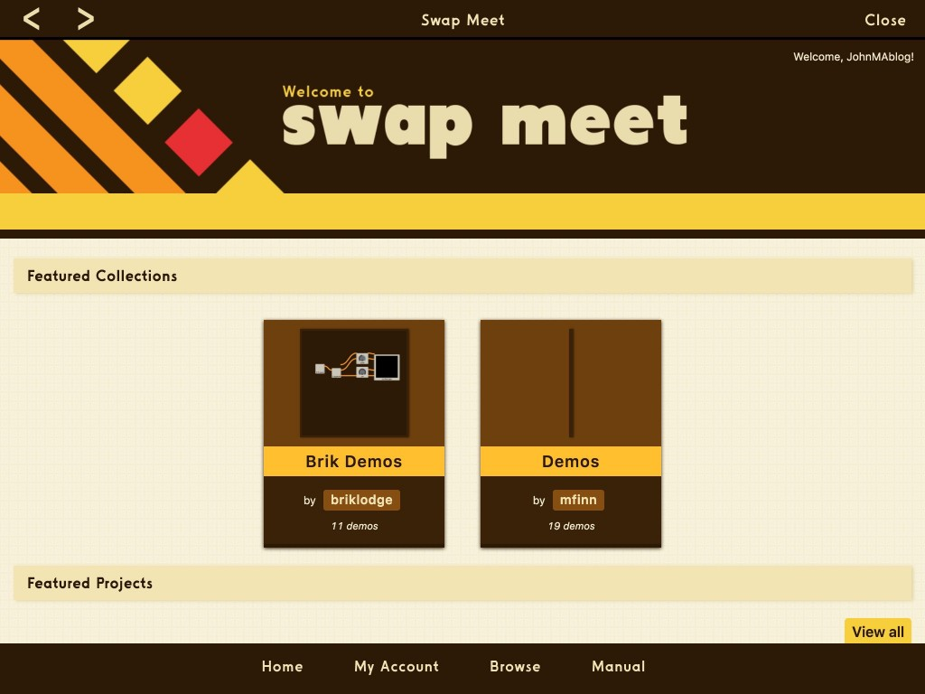Swap Meet provides an online collection of user-designed projects to download and explore.