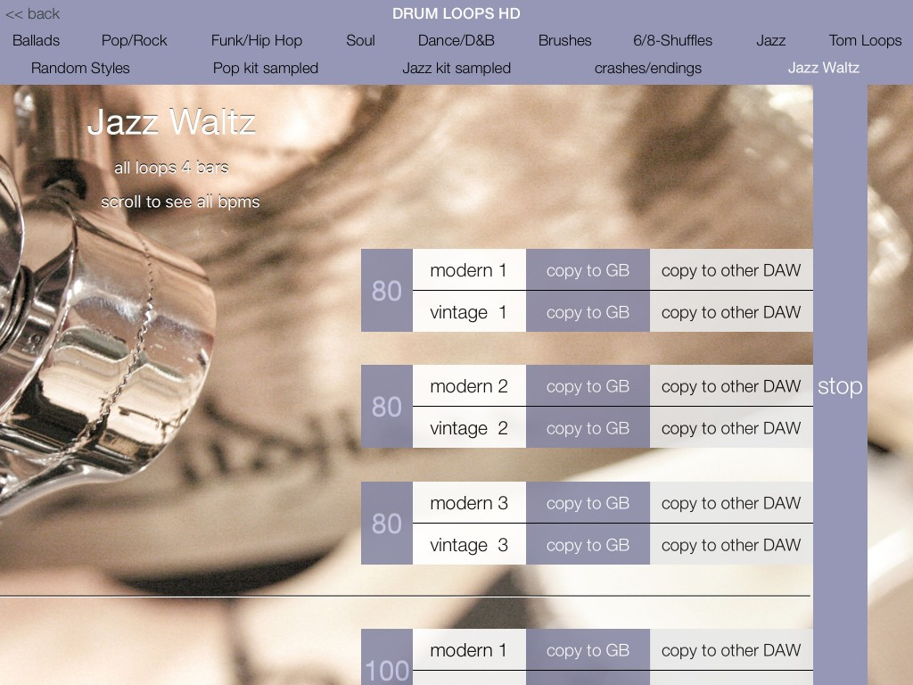 Drum Lops HD; iOS9 and Jazz Waltz ready :-)