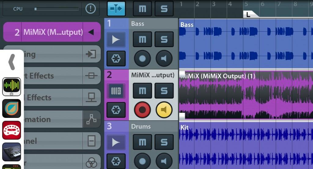 I had no problems getting my MiMix 'mix' into Cubasis via Audiobus.