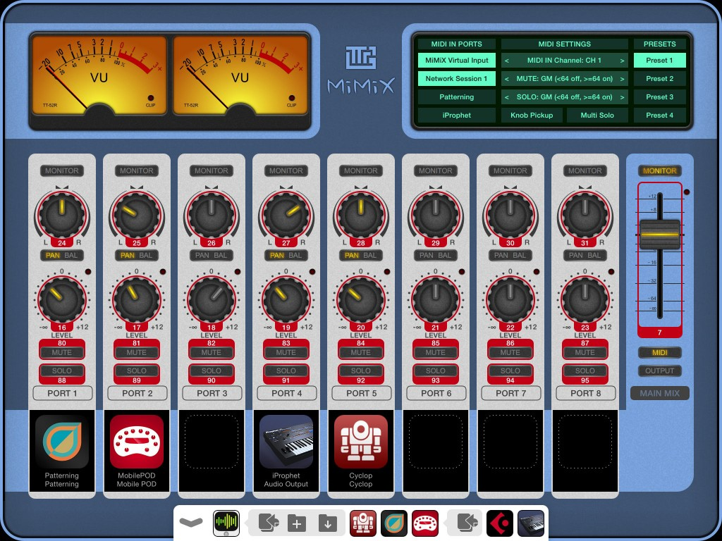 You can also control the app via MIDI and there is both manual configuration and MIDI Learn options available.