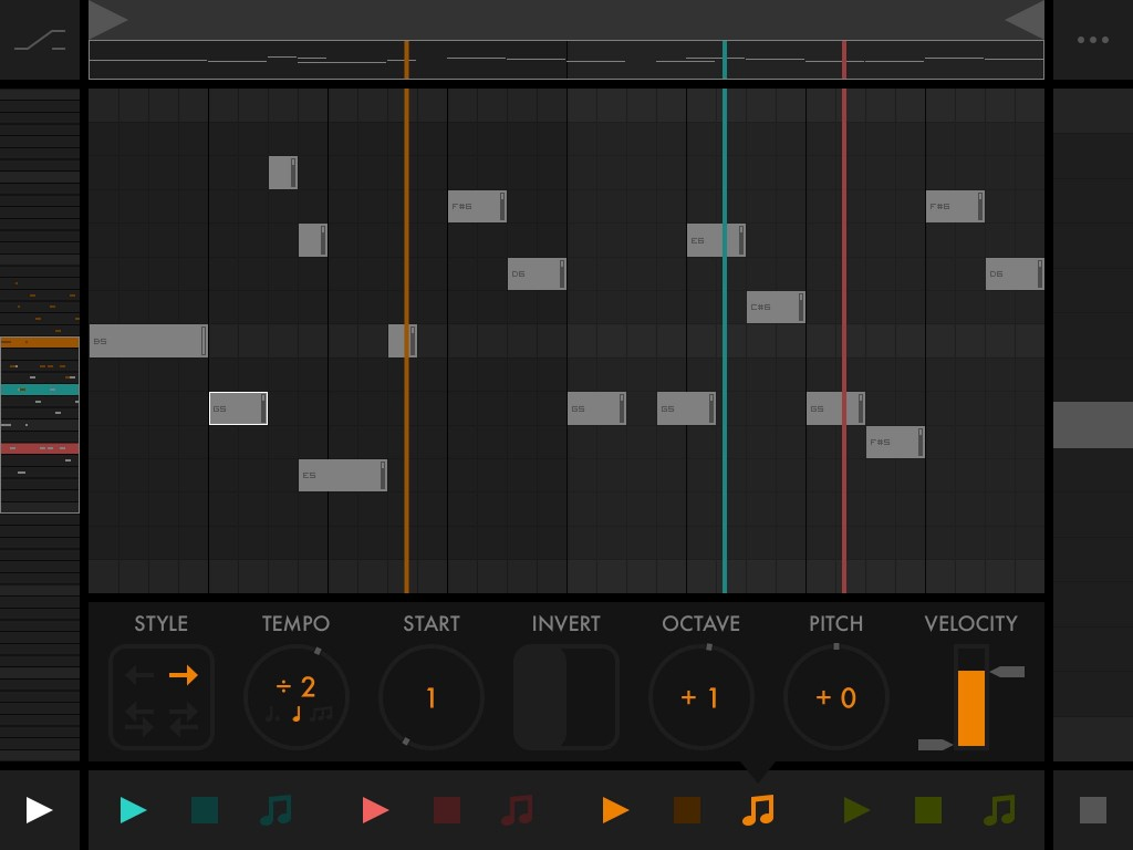 Oh my! With up to four playheads playing your sequence in different ways, you can create something beautifully complex from even the most simple of sequences.