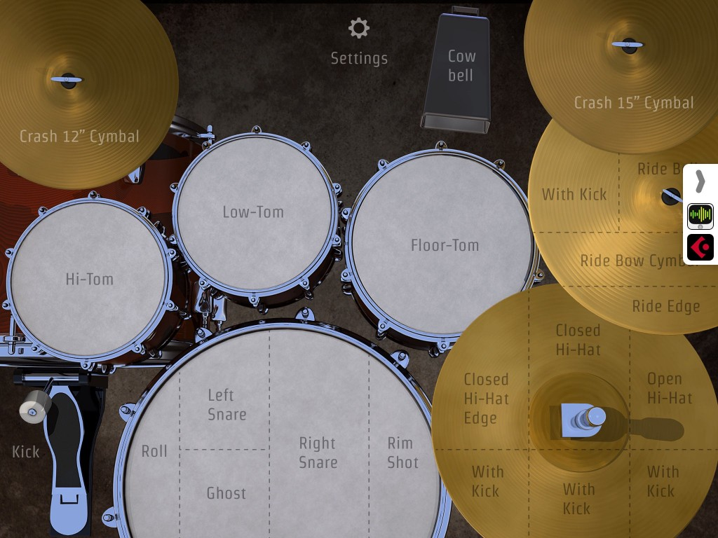 DrumKick provides a very playable virtual drum kit....