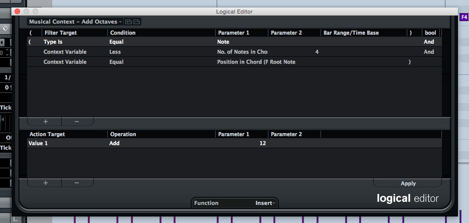 Cubase's Logical Editor provides all sorts of powerful ways to manipulate MIDI data.
