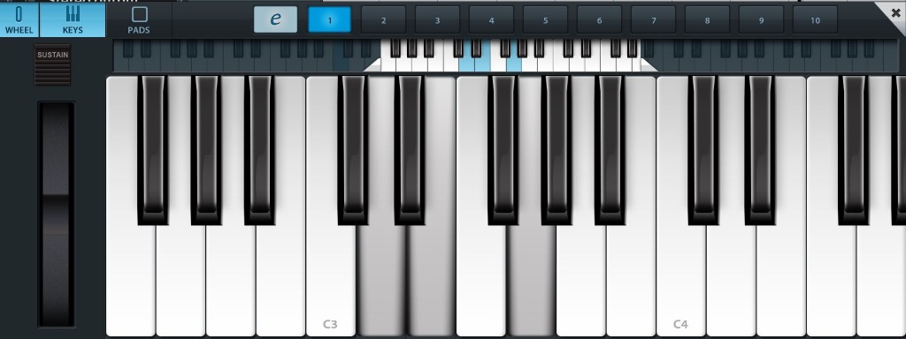 The Chord pads above the virtual keyboard can be edited to create the chords - and note voicings - that you require for your project.
