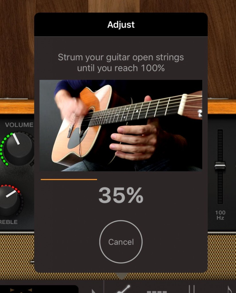 AmpliTube Acoustic's calibration process helps you get the best performance from your iRig Acoustic hardware.