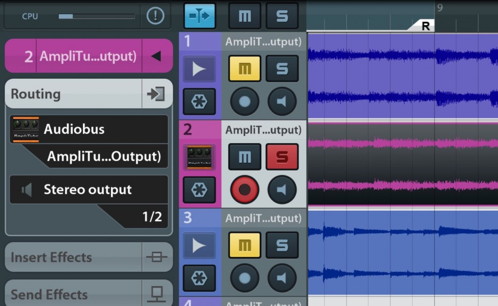 It was possible to get some very respectable acoustic guitar tones into Cubasis using the hardware/software combination.