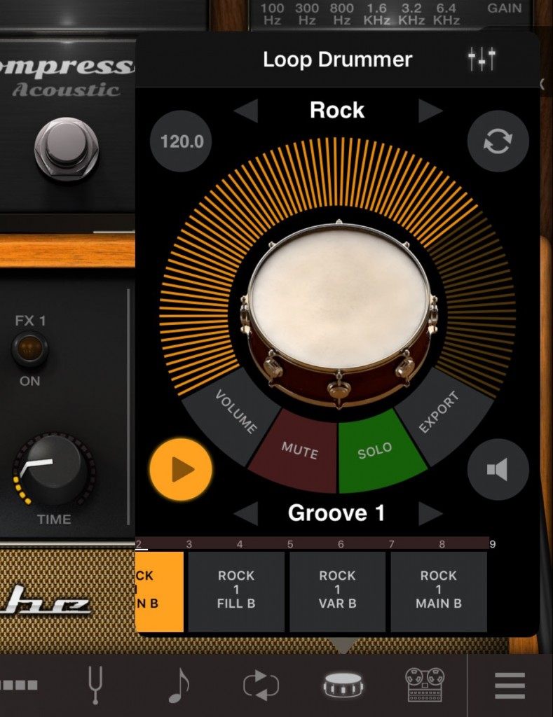 The Loop Drummer is also a neat feature of the app and there are extra loops available via IAP.