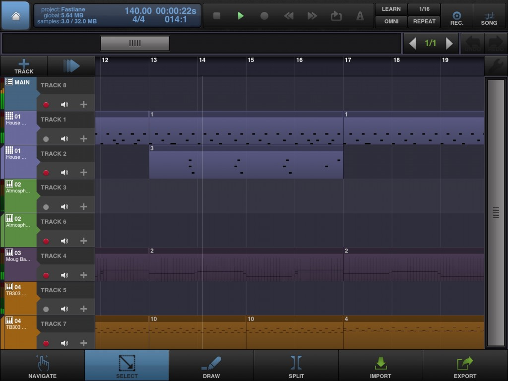 BeatMaker 2 - perhaps not the profile of a Cubasis or Auria but a good feature set for iOS-based recording and a universal app to boot.
