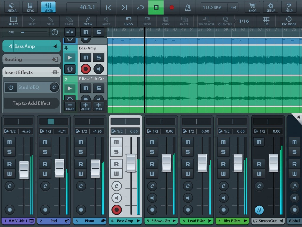 The Mixer is present... but there are no automation features in the LE version.
