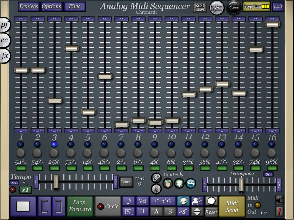 midiSequencer - retro looking step-based sequencer but a heck of a lot of fun to use and very powerful.