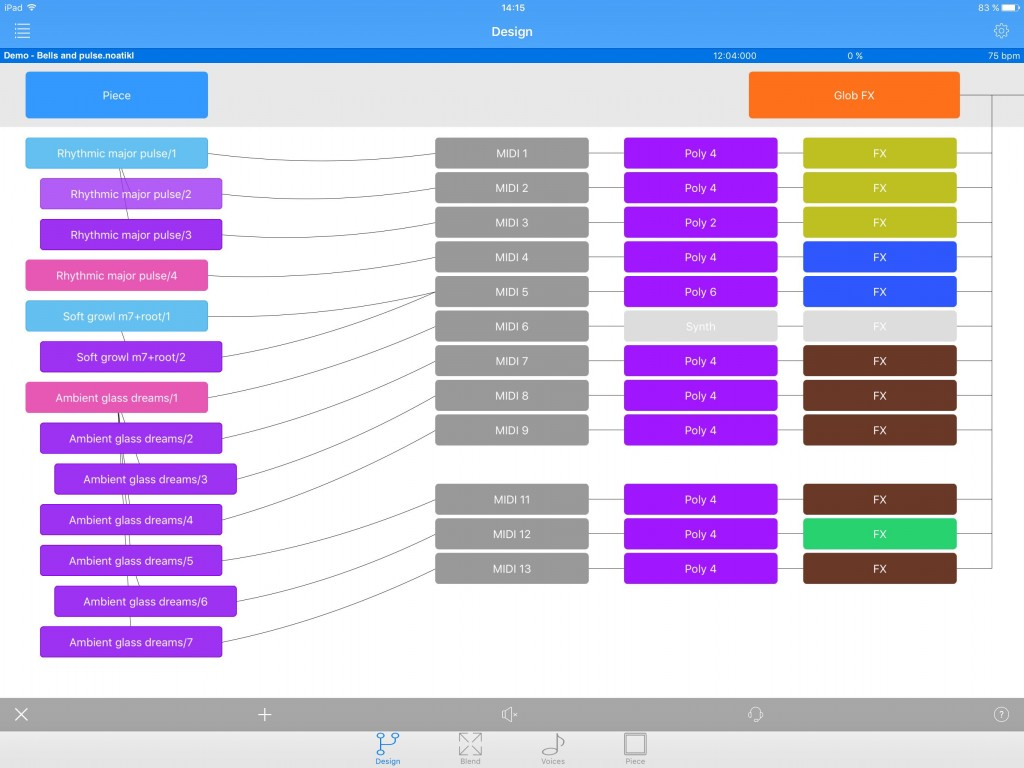 The Design screen shows you an overview of your project.