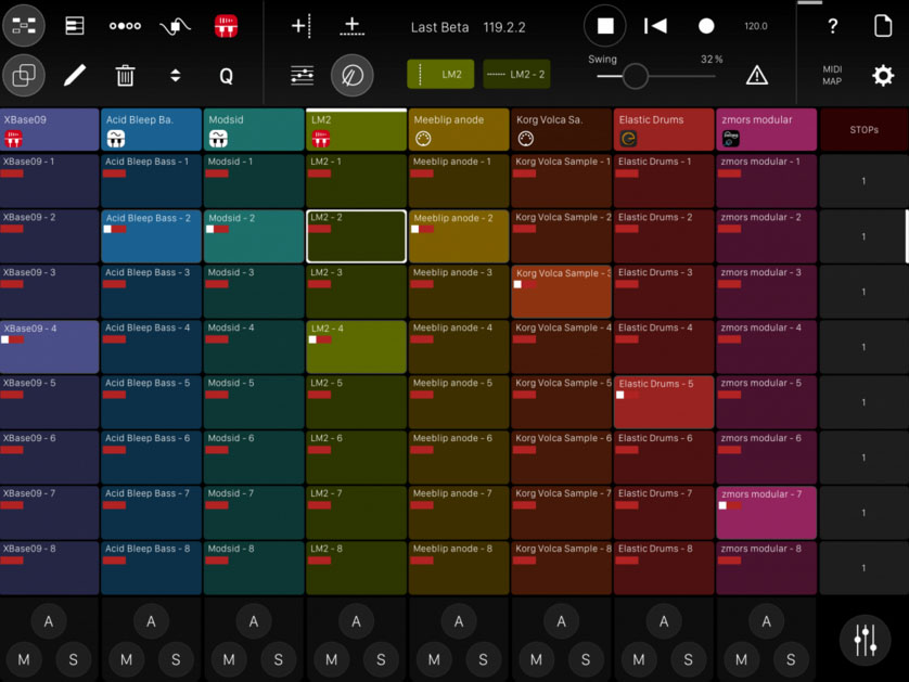 Modstep from AppBC - a fully-blown MIDI sequencer for the iPad with some vey interesting features.