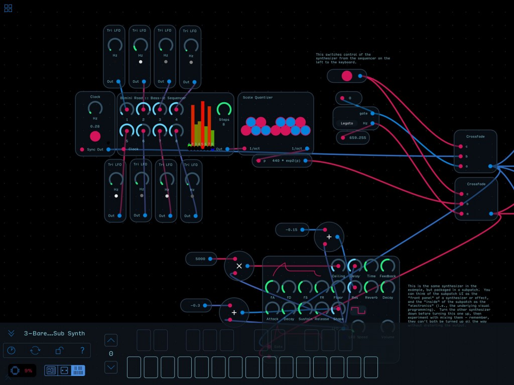 The is huge flexibility within Audulus 3 for DIY synth designers.