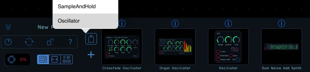 Audulus 3 is supplied with over 100 new pre-built Modules to streamline the building process.