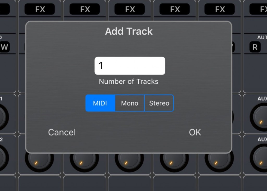 Yay! You can now add MIDI tracks into an Auria project.