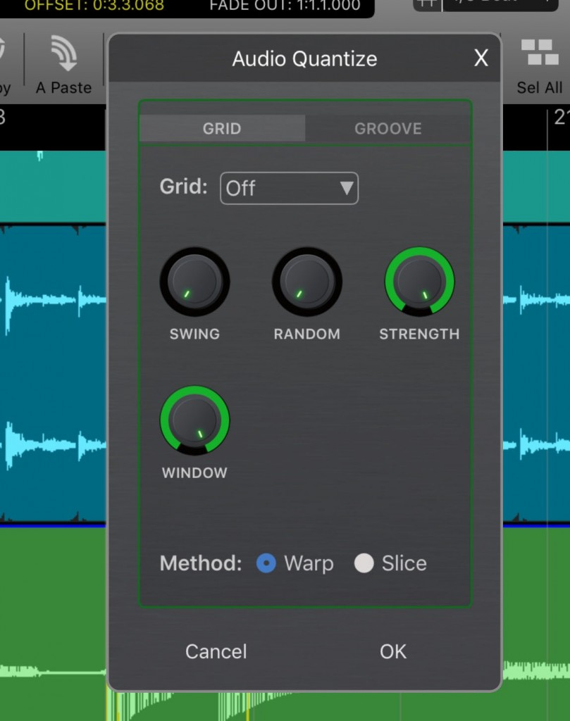 Audio quantize is included in the feature set.