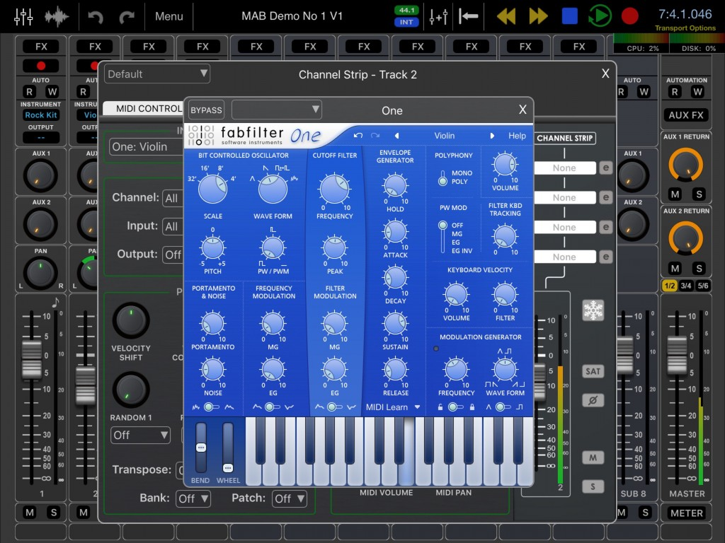 FabFilter One is a solid workhorse synth.