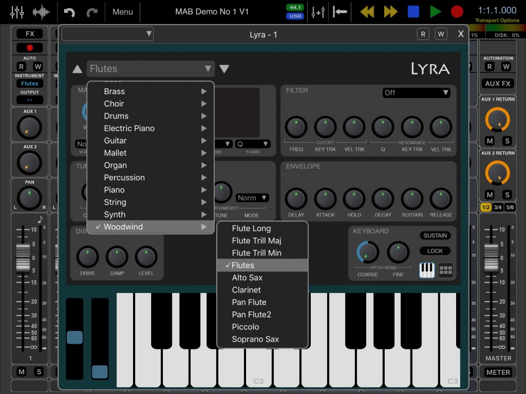 There is a decent selection of presets provided with all three virtual instruments... but also plenty of scope for some preset IAPs I suspect.