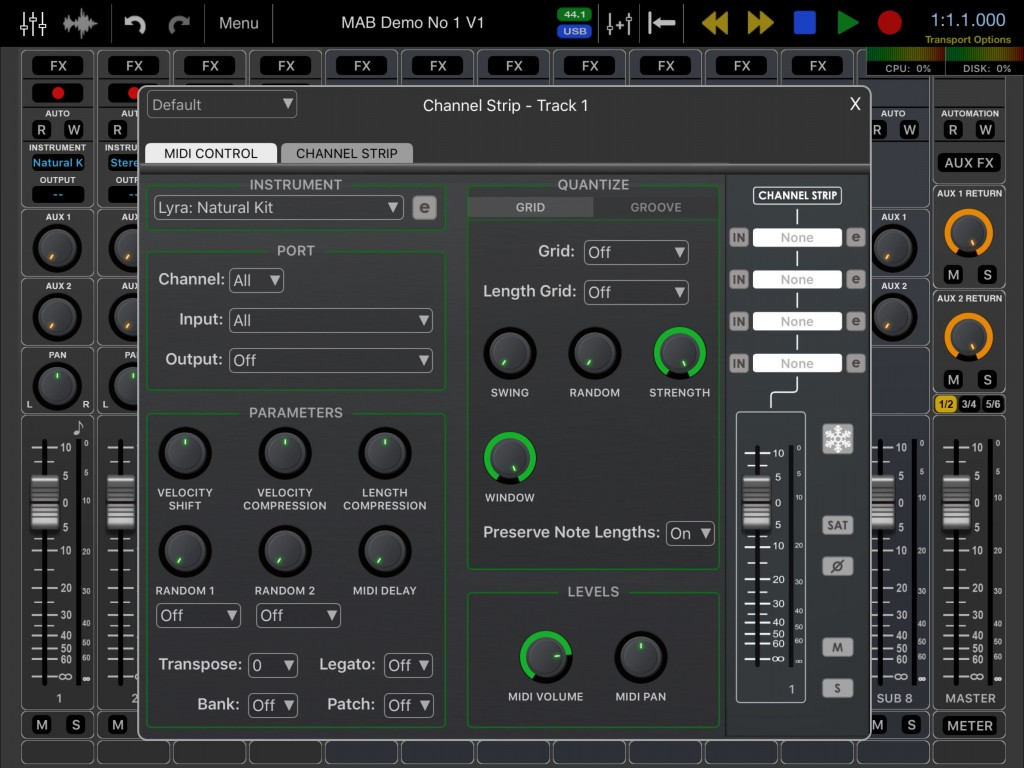 The new MIDI tracks offer plenty of control options to the user.