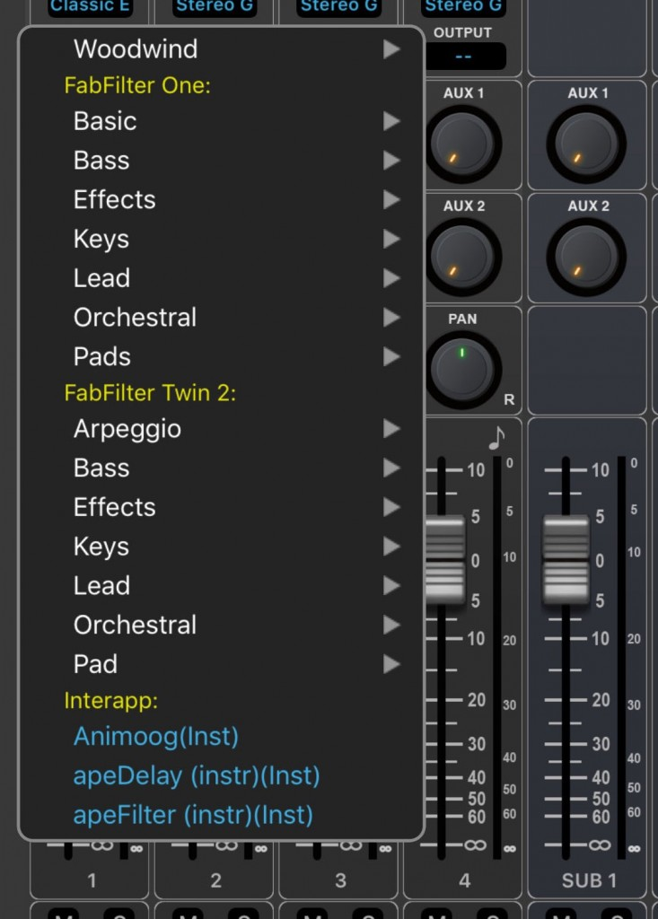 You can insert any of the three included virtual instruments or an IAA compatible app into a MIDI track.