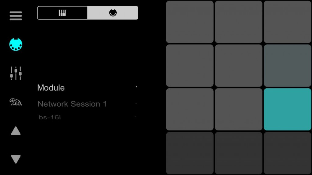 ChordUp allows you to use its selection of internal sounds or to send the note data out to another MIDI app.
