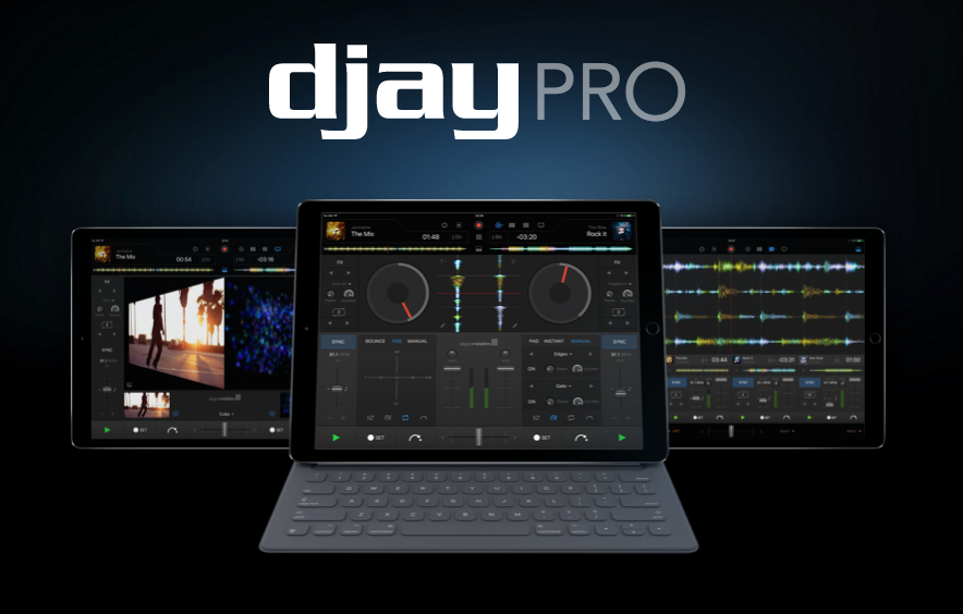 dJay Pro - music and video DJing in a single iPad app and with excellent support for the larger iPad Pro screen.