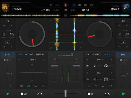 djay Pro looks great on the iPad Pro screen and has a very impressive feature list.