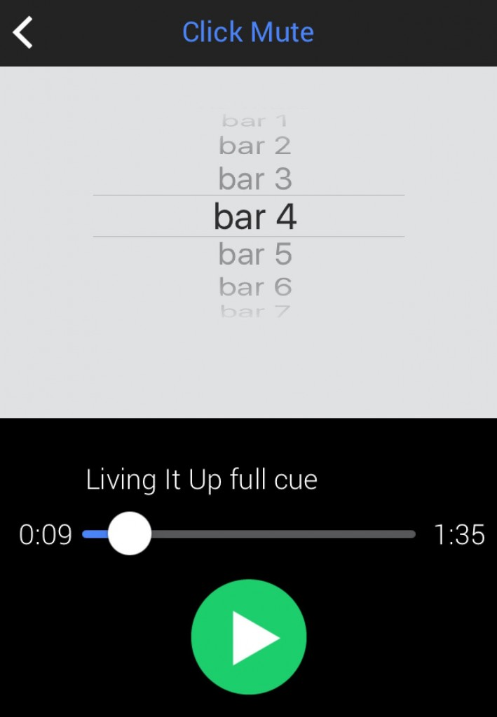 You can have the click play throughout the whole track or, if preferred, just for a number of bars at the start.