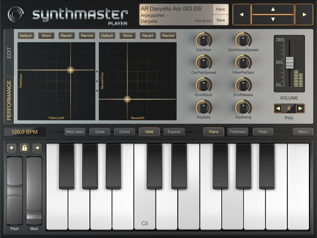 SynthMaster Player; now with a new look and a new logo.
