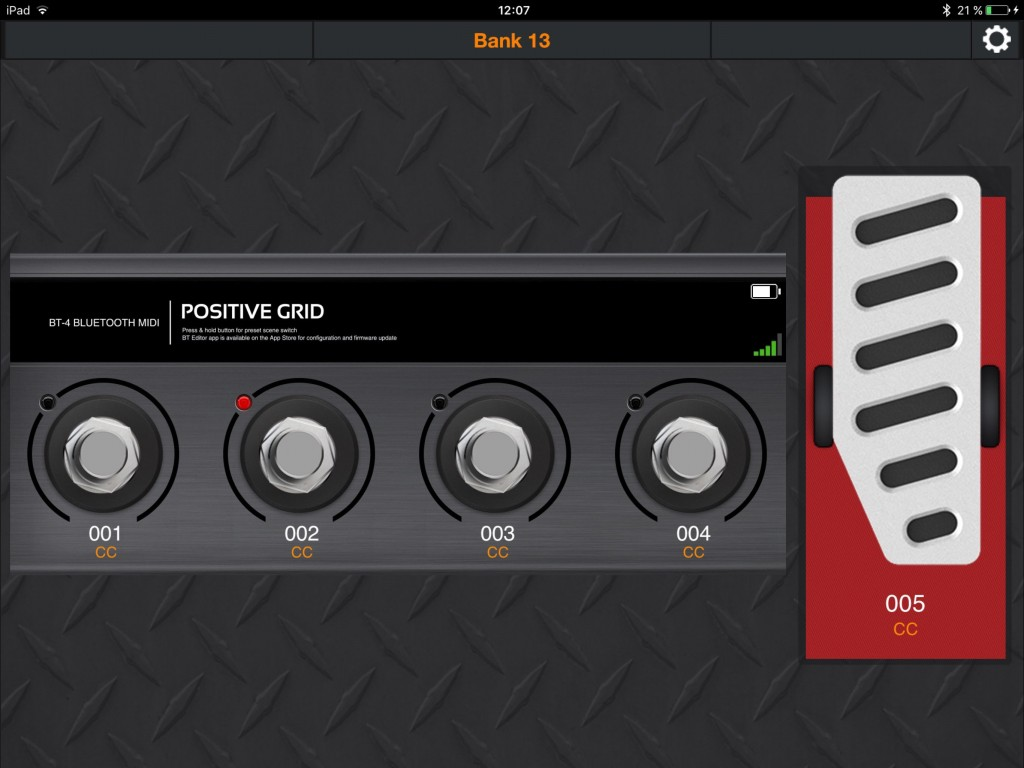 The BT Bluetooth MIDI Pedal Editor app - now updated for improved performance with non-PG apps.