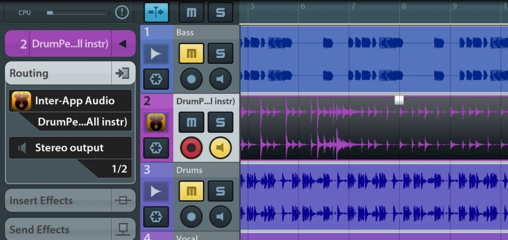 DrumPerfect Pro worked very smoothly via Audiobus and IAA during my own testing... as seen here via IAA in Cubasis.