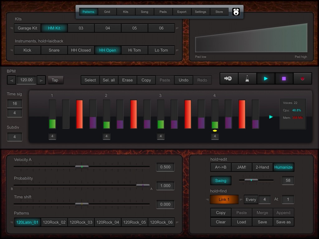 DrumPerfect Pro - a blend of old and new, including a new UI design.