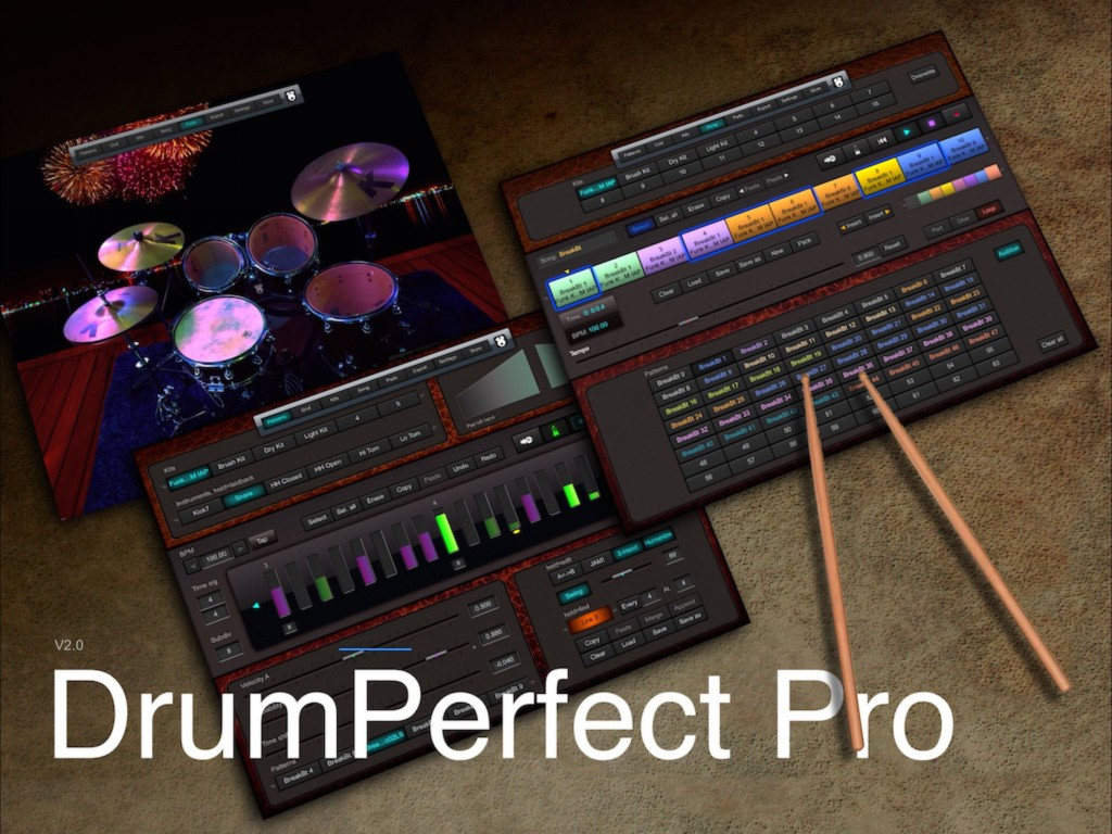 DrumPerfect Pro - the best iOS virtual drummer goes 'Pro'.