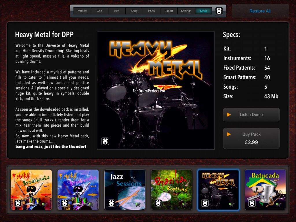The new Store feature is already populated with some excellent additional content.
